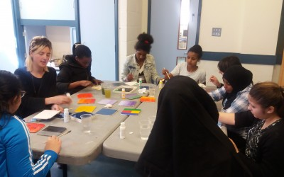 Tile painting workshop with Archie Mac London
