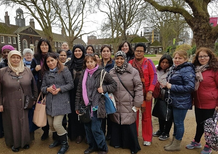 ESOL students' trip to the Geffrye Museum